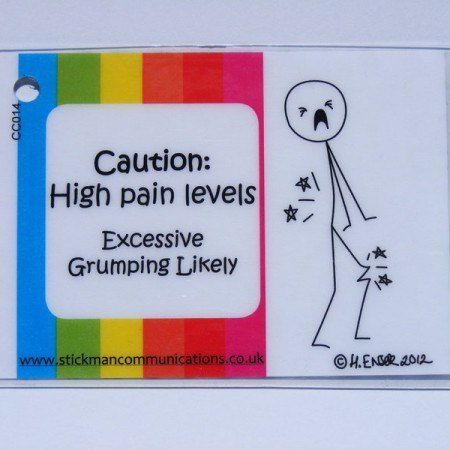 high pain level key card ouch