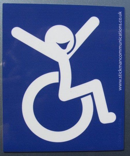magnetic positive disability symbol