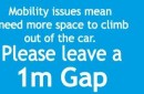 mobility car sticker 1 meter gap