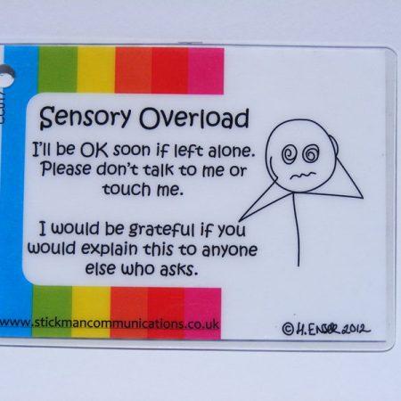 sensory overload key card ASD ADHD