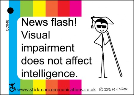 visual impairment key card
