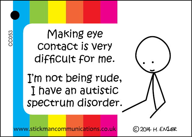 Asd Eye Contact Key Card Aids For Sensory And