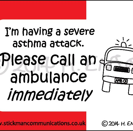 asthma attack all ambulance card