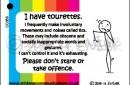 tourettes ID card