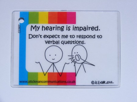 my hearing is impaired key card