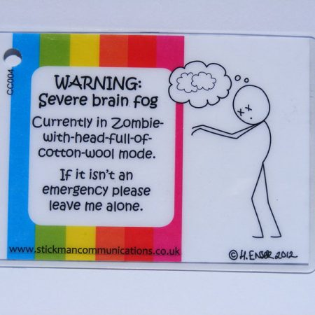 warning severe brain fog key card