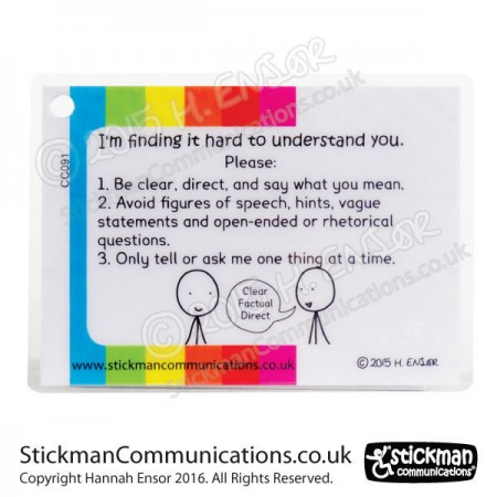 Autism communication card