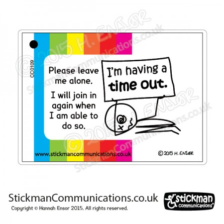 autism time out card